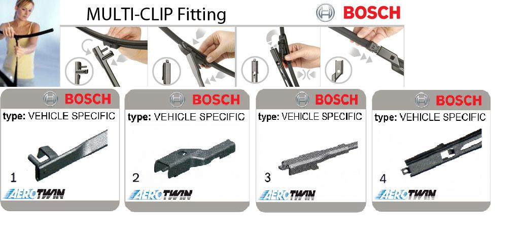 Bosch Aerotwin AM-series Multi-Clip Wipers (Conti Cars)